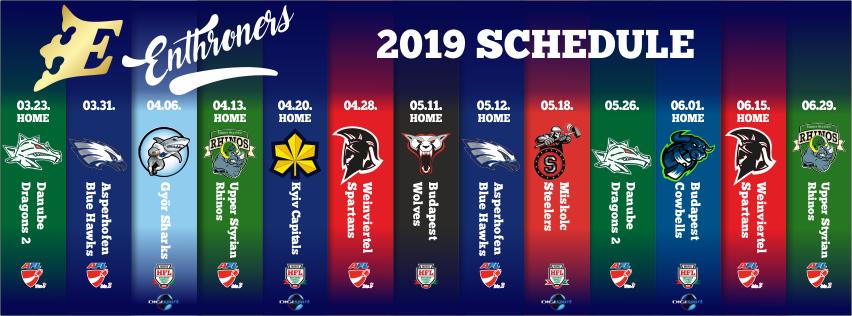2019 schedule facebook cover photo